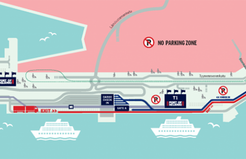 Port of Helsinki map